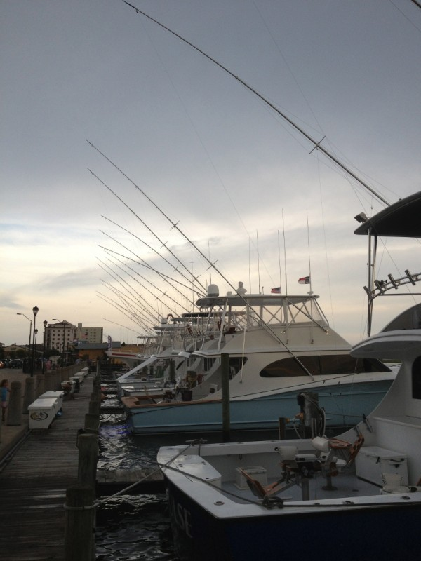 Morehead City's famous charter fishing fleet
