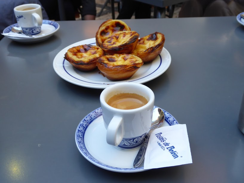 Pasteis de nata at the Pasteis de Belem cafe